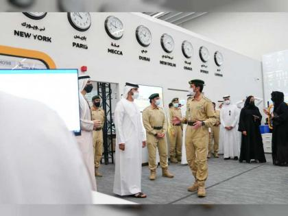 Mansour bin Mohammed visits Expo 2020 Dubai to review safety and security preparations