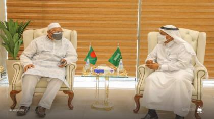 وزیر الشوٴون الدینیة البنغالي یجتمع بوزیر الحج و العمرة السعودي