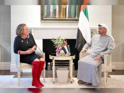 Mohamed bin Zayed meets British Secretary of State for International Trade, President for COP26 in UK