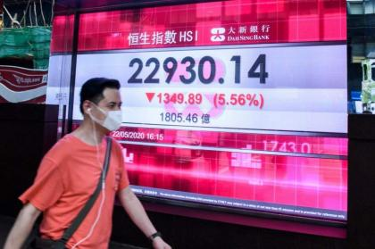Hong Kong stocks end more than 3% down