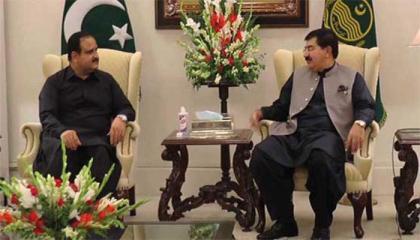 Sanjrani meets Buzdar, discusses matters of mutual interest