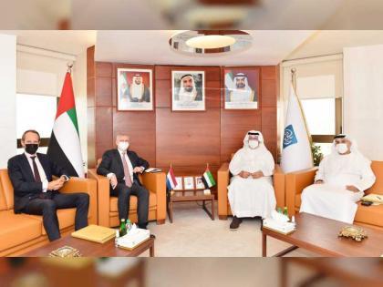 غرفة أبوظبي تبحث سبل تعزيز العلاقات التجارية والاستثمارية مع هولندا