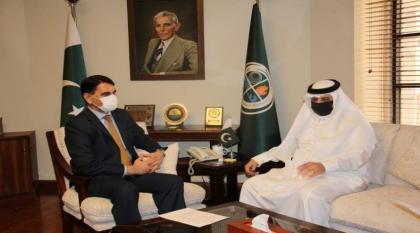 رئیس الھیئة الوطنیة لادارة الکوارث بباکستان یلتقی سفیر السعودیة لدی اسلام آباد