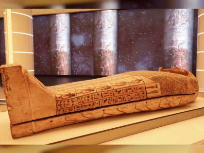 وصول تابوت فرعوني أثري للعرض بجناح مصر في إكسبو 2020 دبي