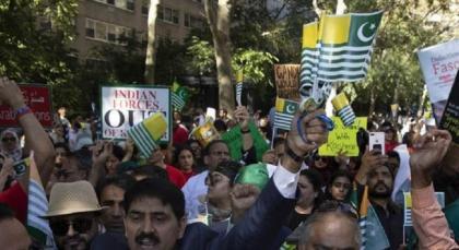 Kashmiri organisation holds protest against Modi's speech at UNGA