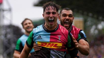 Harlequins win to keep pace with Premiership leaders Leicester