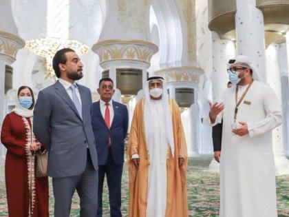 رئيس مجلس النواب العراقي يزور جامع الشيخ زايد الكبير