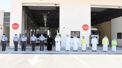"""""""شرطة أبوظبي"""" و""""مواصلات الإمارات"""" تفتتحان مركزا جديدا لفحص المركبات الثقيلة في العين"""