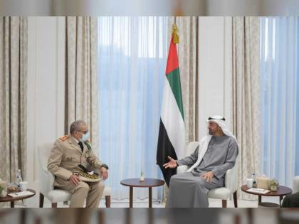 Mohamed bin Zayed receives Inspector General of Royal Moroccan Armed Forces