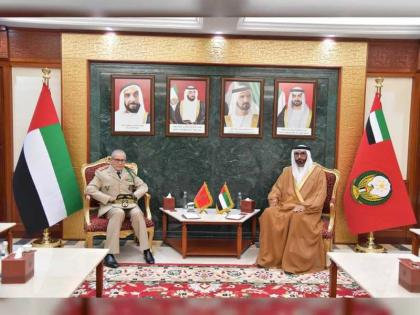 Al Bowardi discusses defense cooperation with Inspector General of Royal Moroccan Armed Forces