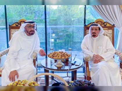 Ahjman Ruler receives Minister for Federal Supreme Council Affairs