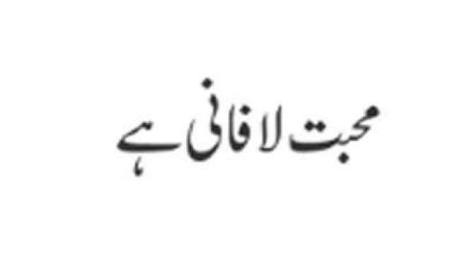 Mohabbat Lafani Hai
