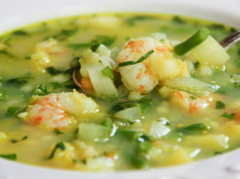 Vegetable And Shrimp  Soup