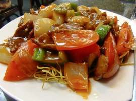 Sweet And Sour Beef Chow Mein