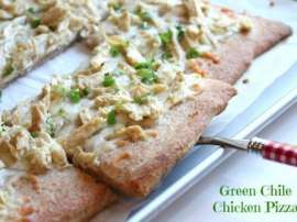 Chicken Green Chili Pizza