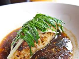 Machli Bean Sauce Kay Sath