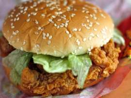 Homemade KFC Zinger Burger