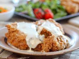 Fry Chicken With Gravy