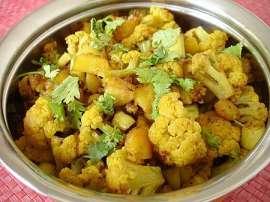 Gobhi Aloo Ginger