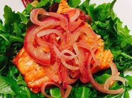 Salmon With Onion Marmalade