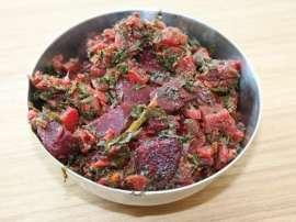 Chukandar (Beetroot) Dish