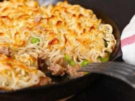 Corn Noodle Pie