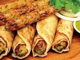 Chicken Banana Kabab Roll