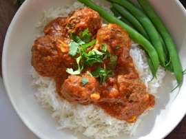 Vegetable Rice Kofta Curry