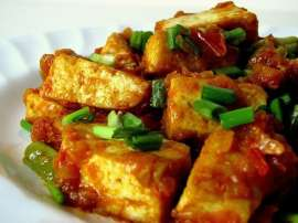 Stir Fried Bean Curd Kekaray Ke Gosht Ke Sath