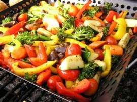Grilled Paneer With Veggies