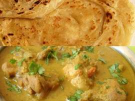 White Korma With Paratha