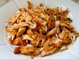 Shredded Chicken Seam Sed Kay Saath