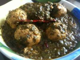 Chicken Cheese Kofta Palak