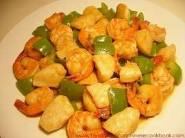 Shrimp With Green Peppers