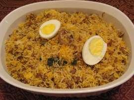 Keema Eggs Rice