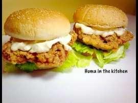 Zinger Burger  KFC Style