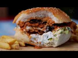 Butter Chicken Burger