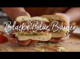 Bacon Black & Blue Burger
