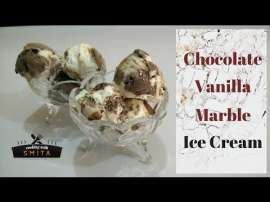 Chocolate Vanilla Marble Ice Cream