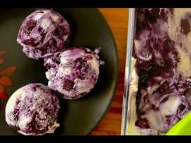 Homemade Blueberry Cheese Cake Ice Cream