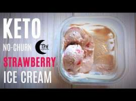 Keto Strawberry Ice Cream