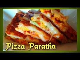 Chicken Pizza Paratha