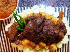Masala Mutton Leg Roast