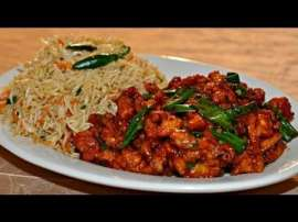 Chicken Chilli With Rice
