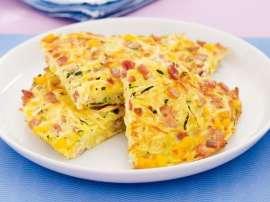 Anday Ka Omelette Naram Aur Phola Huwa Bananay Ki Tarkib