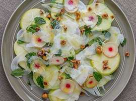Mint Apple And White Salad