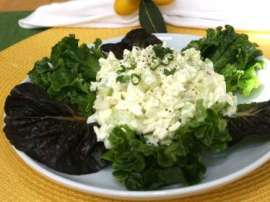 White And Green Salad