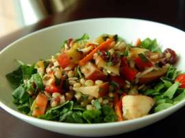 Wheat And Fruits Salad