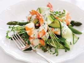 King Prawn Aur Asparagus Ka Salad