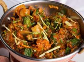 Mushroom And Bhindi Curry